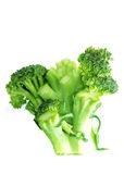 Cleaned broccoli. Green broccoli, cleaned, with sprigs, white background Stock Image