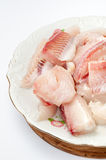 Cleaned and cut fish prepared for frying.  Royalty Free Stock Photos