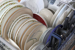Cleaned dishware Stock Images