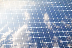 Cleaned Energy. Photovoltaic panel for renewable cleaned energy Royalty Free Stock Photography