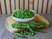 The cleaned peas Royalty Free Stock Photography