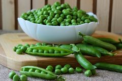 The cleaned peas Royalty Free Stock Photo