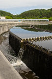 Cleaned sewage water clarification waterwork Stock Photography