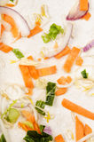 Cleaned vegetables on a kitchen worktop Royalty Free Stock Images