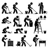 Cleaner Cleaning and Washing House Clipart Stock Images