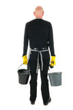 Cleaner with equipment Stock Images