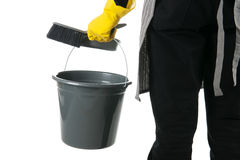 Cleaner with equipment Royalty Free Stock Photo