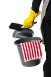 Cleaner with equipment Royalty Free Stock Image