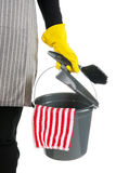Cleaner with equipment Royalty Free Stock Photography