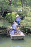 Cleaner in Kenrokuen Garden Kanazawa Japan Royalty Free Stock Images