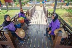 Cleaner Ladies at Pengkalan Gawi. TERENGGANU, MALAYSIA - August 15,2017: Janitress Cleaner Ladies at Pengkalan Gawi newly opened Tasik Kenyir duty-free zone Royalty Free Stock Photography
