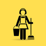 Cleaner maid vector icon Royalty Free Stock Image
