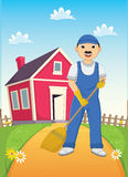 Cleaner Vector Illustration Stock Photo