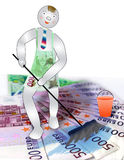 The cleaner washes cash. We shall help you to wash your money Royalty Free Stock Photo