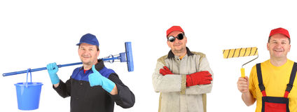 Cleaner welder and painter. Stock Images