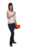 Cleaner woman Stock Image