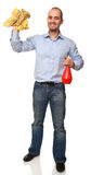 Cleaner at work Stock Photography