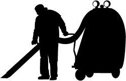 Cleaner at work Royalty Free Stock Photos