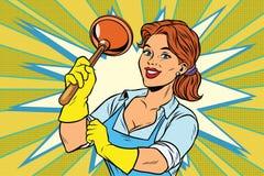 Cleaner z nurkiem ilustracji