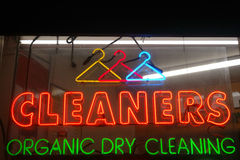 Cleaners Neon Sign Stock Image