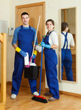 Cleaners ready for work Stock Photography