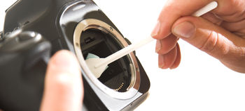 Cleanilig del sensore fotografie stock