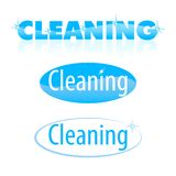 Cleaning. Sign working out on a word cleaning Royalty Free Stock Photos