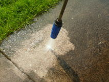 Cleaning. High pressure cleaning with water Stock Images