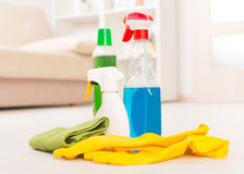 Cleaning accesories Royalty Free Stock Photo
