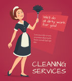Cleaning Advertisement Illustration Stock Images