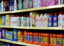 Cleaning agenci w supermarkecie Zdjęcie Stock