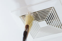 Cleaning Air Duct Stock Image