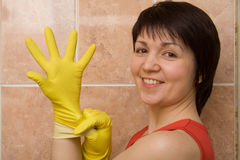 Cleaning anticipation Stock Photography