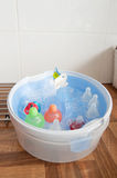 Cleaning the baby bottles Stock Photo