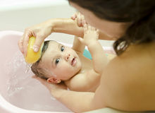 Cleaning baby Royalty Free Stock Photos