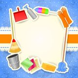 Cleaning, background with copy space Royalty Free Stock Photos