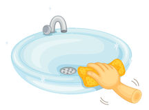 Cleaning basin Stock Images