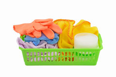 Cleaning basket Stock Photography