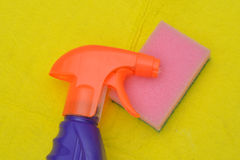 Cleaning bottle sponge Stock Photography