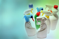 Cleaning bottles Royalty Free Stock Image