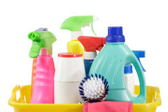 Cleaning bottles Stock Image