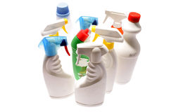 Cleaning bottles Royalty Free Stock Photography