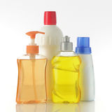 Cleaning Bottles Stock Photo