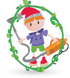 Cleaning boy Royalty Free Stock Image