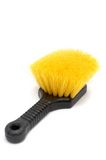 Cleaning Brush. With yellow bristles Royalty Free Stock Image