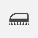Cleaning brush vector icon Royalty Free Stock Image