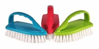Cleaning brush on white background Stock Images