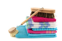 Cleaning with brushes Stock Photography