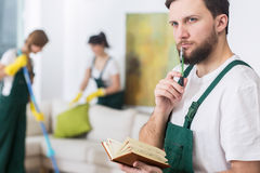 Cleaning business requires good organisation Stock Photography