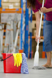 Cleaning business warehouse Royalty Free Stock Photos